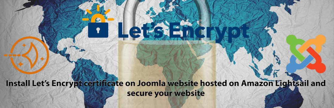 How to install Let's Encrypt certificate on Joomla website hosted on Amazon Lightsail